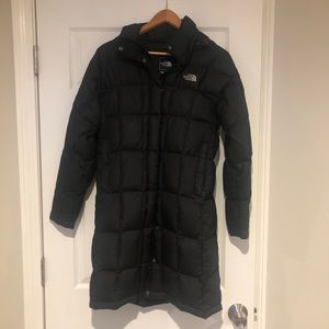 North Face long down jacket